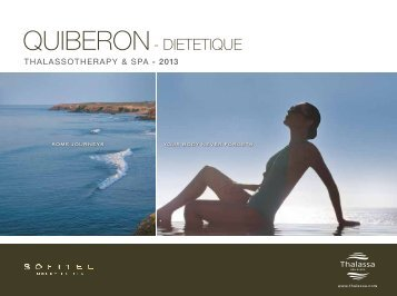 the Sofitel Quiberon Diététique brochure - Thalassa sea & spa