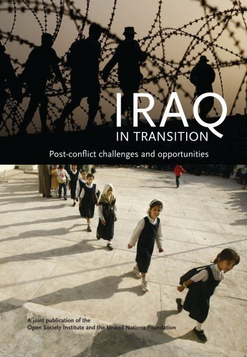 Iraq in Transition- Post-conflict challenges and opportunities