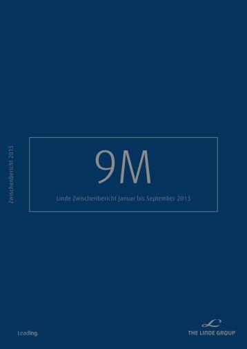 Zwischenbericht 9M 2013 - The Linde Group