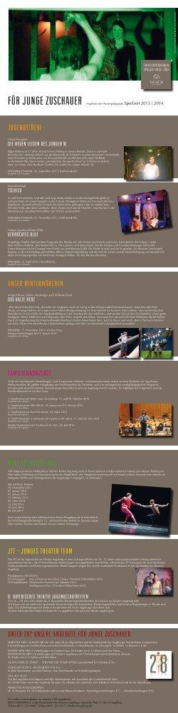 Angebote für Junge Zuschauer - Theater Augsburg