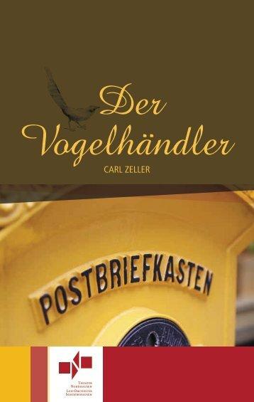 Programmheft - Der Vogelhändler - Theater Nordhausen