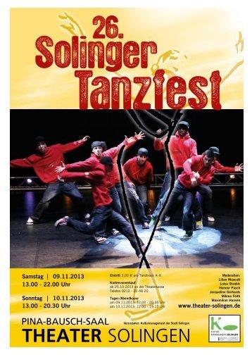 Tanzfest Programm - Theater Solingen