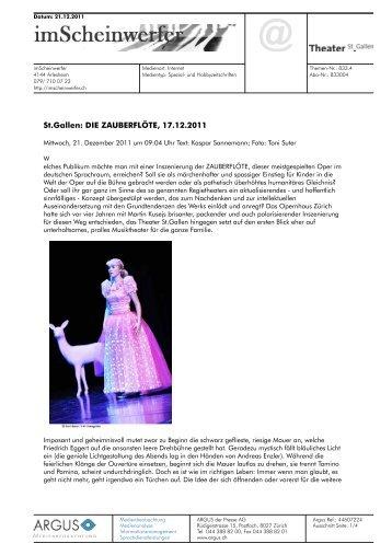 St.Gallen: DIE ZAUBERFLÖTE, 17.12.2011 - Theater St. Gallen