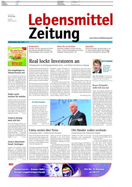 Real lockt Investoren an - The Consumer Goods Forum