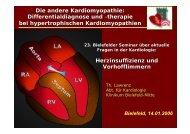 Die andere Kardiomyopathie: Differentialdiagnose und ... - theHeart.de