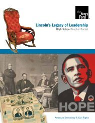 Lincoln's Legacy of Leadership - America's ... - The Henry Ford