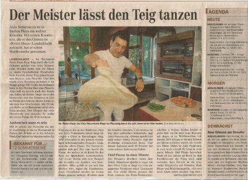 Der Meister lasst den Teig tanzen - Restaurant Rotes Haus