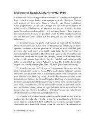 Lektionen von Francis Schaeffer - TheoBlog