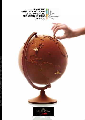 Valrhona - Bilanz zur Verantwortung des Unternehmens 2012-2013