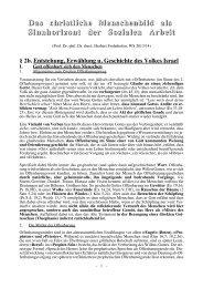 2b. Entstehung, Erwählung und Geschichte des Volkes Israel