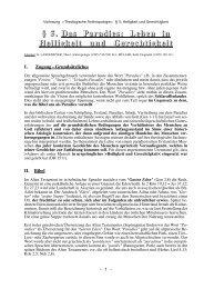 Heiligkeit und Gerechtigkeit - Theologie-Skripten