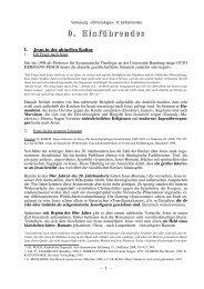 Einführendes - Theologie-Skripten