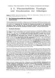Wiss. Theologie und Glaubenssinn der Gläubigen