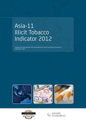 Asia-11 Illicit Tobacco Indicator 2012 - Oxford Economics