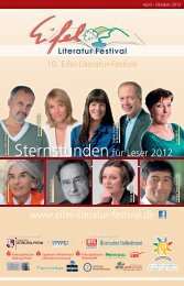 Programmheft 2012 - Eifel-Literatur-Festival