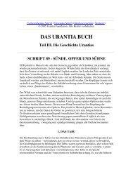 Das Urantia Buch - Schrift 89 - Sünde, Opfer und Sühne