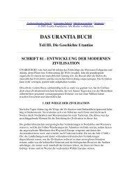 Das Urantia Buch - Schrift 81 - Entwicklung der Modernen Zivilisation