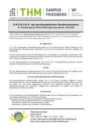 BPS-Ordnung WI - Technische Hochschule Mittelhessen