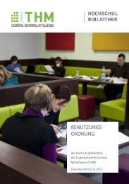 Benutzungsordnung der Bibliothek - Technische Hochschule ...