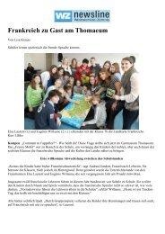 Frankreich zu Gast am Thomaeum - Gymnasium Thomaeum Kempen