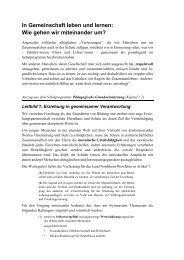 Soziales Lernen - Gymnasium Thomaeum Kempen