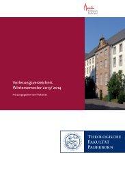 Vorlesungsverzeichnis WS 2013/14 - Theologische Fakultät ...