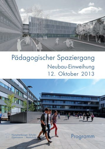 Programm für die Einweihungsfeier - Nymphenburger Schulen