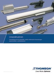 Katalog Linearaktuatoren Elektrohubzylinder - Thomson