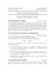 10. Übung zur Elektrodynamik - Institut für Theoretische Physik der ...