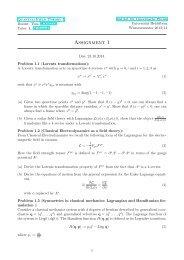 QFT, Uebungsblatt 1 - Institut für Theoretische Physik der Universität