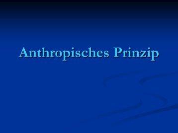 Anthropisches Prinzip