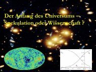 Der Anfang des Universums – Spekulation oder Wissenschaft ?