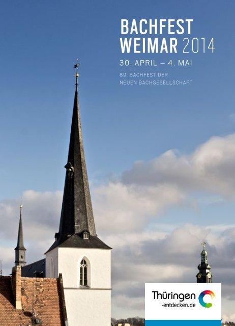 BACHFEST WEIMAR 2014 - Thüringer Bachwochen 2014