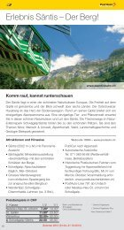 Freizeittipps Sommer 2013 - Ausflüge in der Ostschweiz ... - Thurbo