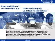 Deichverteidigung und Hochwasserschutz - THW Gst Straubing