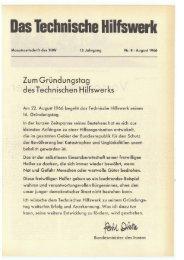 August - THW-historische Sammlung