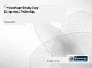ThyssenKrupp Equity Story Components Technology