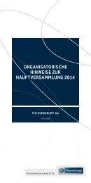 ORGANISATORISCHE HINWEISE ZUR ... - ThyssenKrupp AG