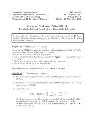 ¨Ubung zur Vorlesung BeKo 2013/14 - Theoretische Informatik