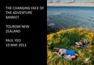 The changing face of adventure markets - Tourism Industry ...