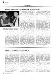 erste tibetisch-chinesische konferenz china weist klage zurück