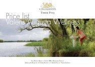 Price list Valens Augusta Wellness - Sava Hotels & Resorts