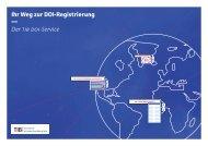 Ihr Weg zur DOI-Registrierung — Der tib doi-Service