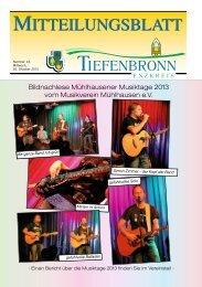 Mitteilungsblatt KW 44/2013 - Tiefenbronn