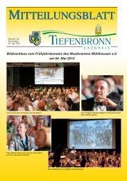 Mitteilungsblatt KW 20/2013 - Tiefenbronn