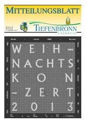 Mitteilungsblatt KW 49/2013 - Tiefenbronn