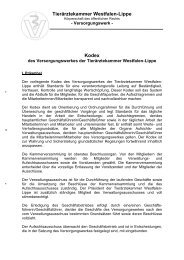 Download des Kodex - Tierärztekammer Westfalen-Lippe