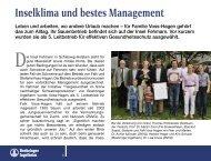 Inselklima und bestes Management - Tiergesundheit und mehr