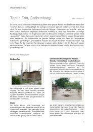 STS-Zoobericht 2012, Toni's Zoo Rothenburg - Schweizer ...