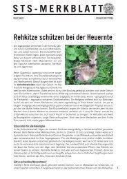 Rehkitze schützen bei der Heuernte - Schweizer Tierschutz STS